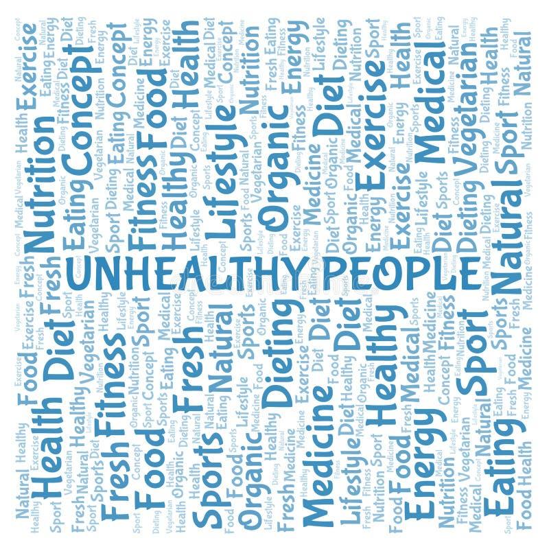 Ανθυγειινό σύννεφο λέξης ανθρώπων ελεύθερη απεικόνιση δικαιώματος