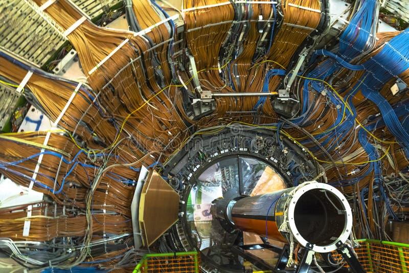 Ανιχνευτής Lhcb στο Κέντρο Πυρηνικών Μελετών και Ερευνών (CERN), Γενεύη στοκ εικόνα