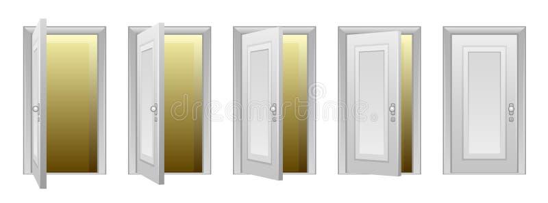 Ανοίγοντας πόρτα διανυσματική απεικόνιση