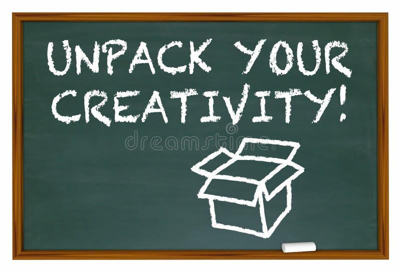 Ανοίξτε τη φαντασία πινάκων κιμωλίας δημιουργικότητάς σας διανυσματική απεικόνιση