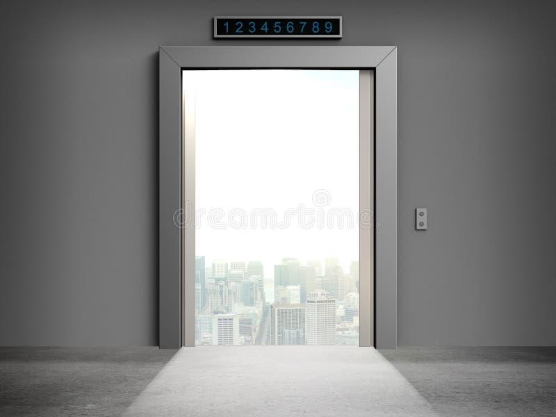 Ανοιγμένες πόρτες στην πόλη στοκ εικόνα