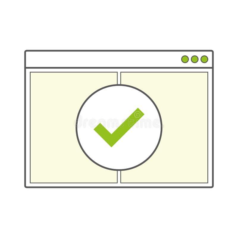 Ανοιγμένη κενή σελίδα παραθύρων μηχανών αναζήτησης Διαδικτύου ελεύθερη απεικόνιση δικαιώματος