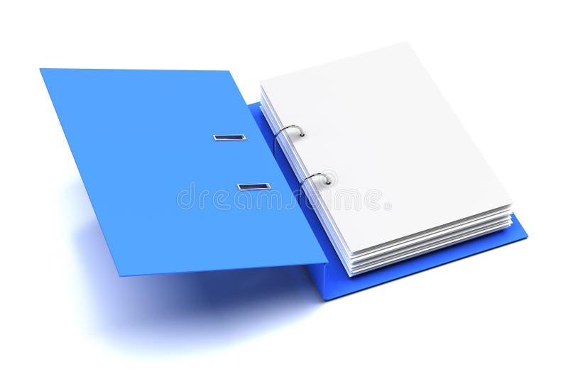 Ανοιγμένος φάκελλος με την κενή σελίδα ελεύθερη απεικόνιση δικαιώματος