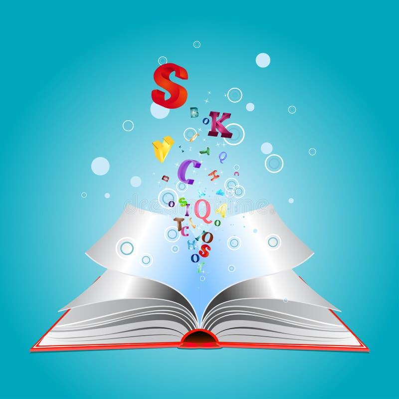 Ανοιγμένο βιβλίο με τις επιστολές απεικόνιση αποθεμάτων