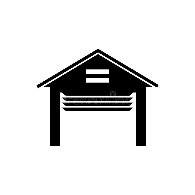 Ανοιγμένο διανυσματικό εικονίδιο γκαράζ διανυσματική απεικόνιση