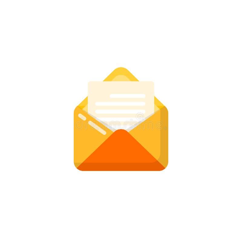 Ανοιγμένο διανυσματικό σχέδιο εικονιδίων φακέλων και εγγράφων ανοιγμένο σχέδιο εικονιδίων ταχυδρομείου απεικόνιση αποθεμάτων