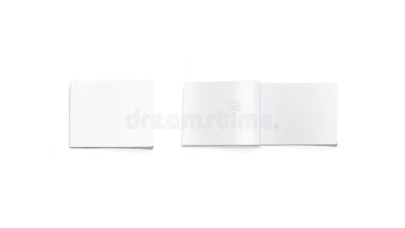 Ανοιγμένο και κλειστό κενό ορθογώνιο πρότυπο περιοδικών, που απομονώνεται στοκ φωτογραφία με δικαίωμα ελεύθερης χρήσης