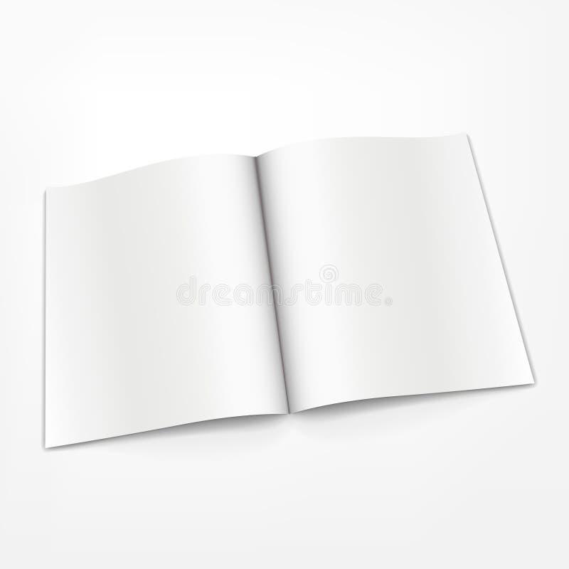 Ανοιγμένο κενό βιβλιάριο στο άσπρο υπόβαθρο ελεύθερη απεικόνιση δικαιώματος