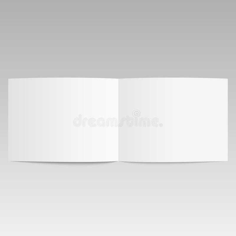 Ανοιγμένο κενό πρότυπο απεικόνισης περιοδικών τρισδιάστατο επίσης corel σύρετε το διάνυσμα απεικόνισης απεικόνιση αποθεμάτων