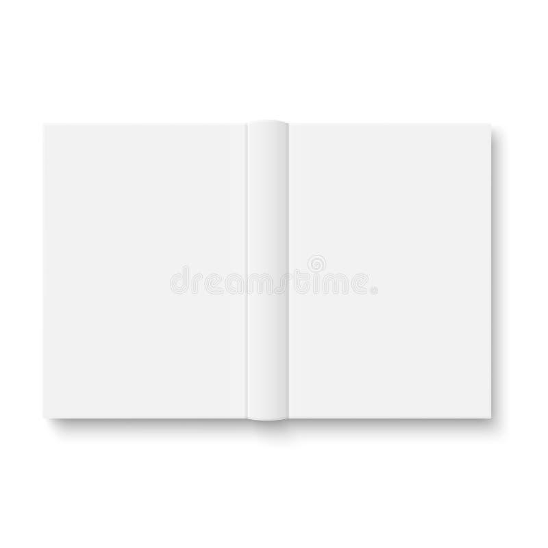 Ανοιγμένο κενό πρότυπο βιβλίων με τις μαλακές σκιές. ελεύθερη απεικόνιση δικαιώματος