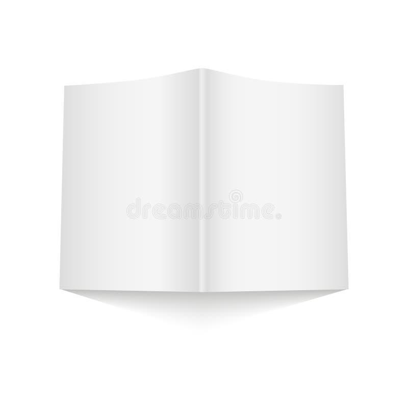 Ανοιγμένο κενό πρότυπο κάλυψης περιοδικών στο άσπρο υπόβαθρο με τις μαλακές σκιές επίσης corel σύρετε το διάνυσμα απεικόνισης διανυσματική απεικόνιση