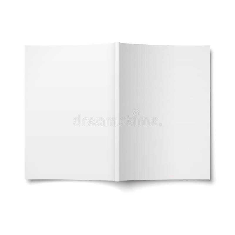 Ανοιγμένο κενό πρότυπο κάλυψης περιοδικών διανυσματική απεικόνιση