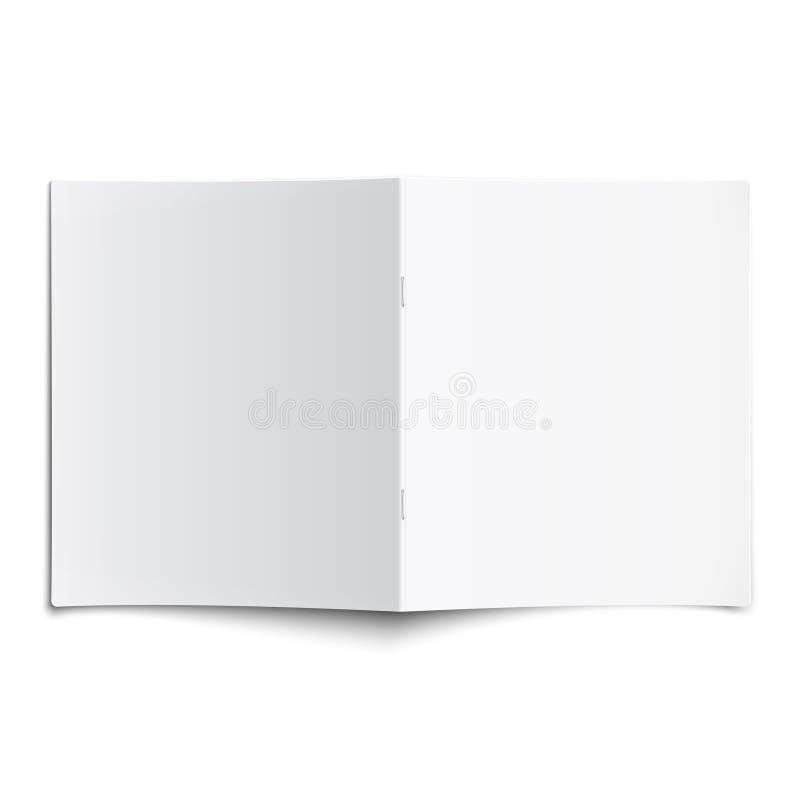 Ανοιγμένο κενό πρότυπο περιοδικών με τις μαλακές σκιές. ελεύθερη απεικόνιση δικαιώματος