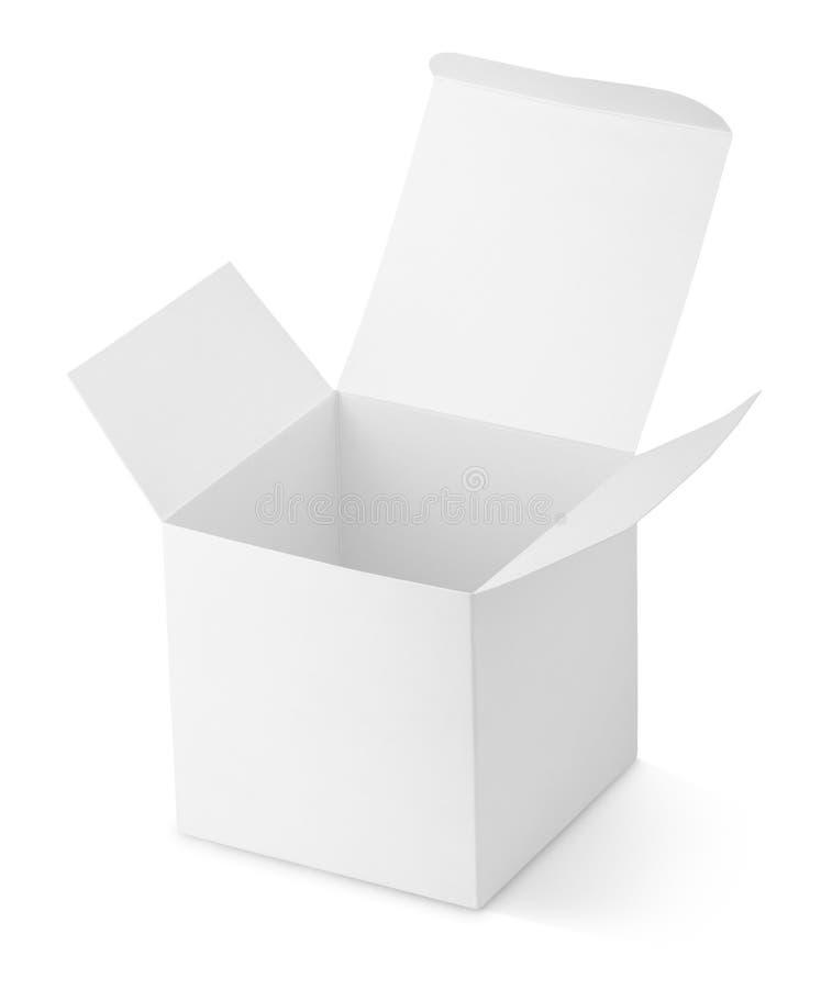 Ανοιγμένο κουτί από χαρτόνι στοκ εικόνα