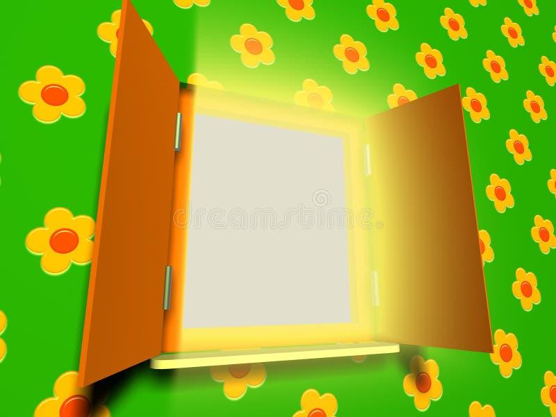 ανοιγμένο παράθυρο άνοιξη διανυσματική απεικόνιση