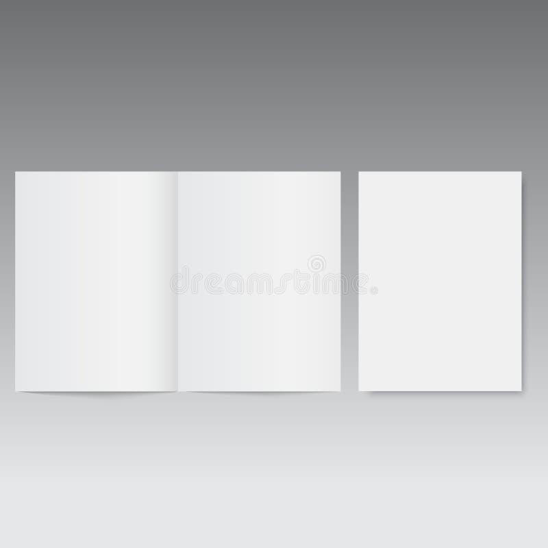Ανοιγμένο πρότυπο περιοδικό ή φυλλάδιο διάνυσμα ελεύθερη απεικόνιση δικαιώματος