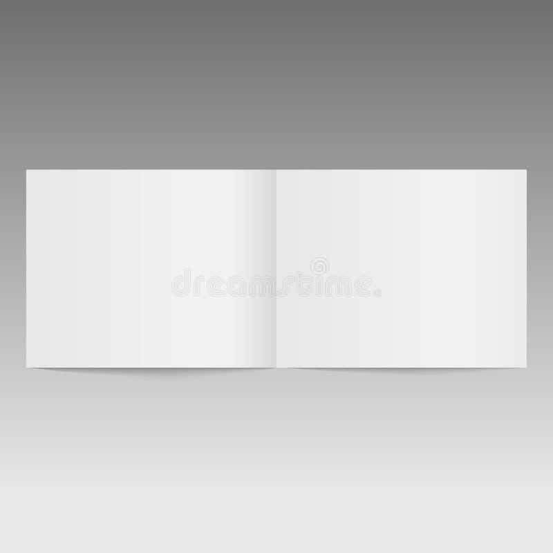 Ανοιγμένο πρότυπο περιοδικό ή φυλλάδιο διάνυσμα απεικόνιση αποθεμάτων
