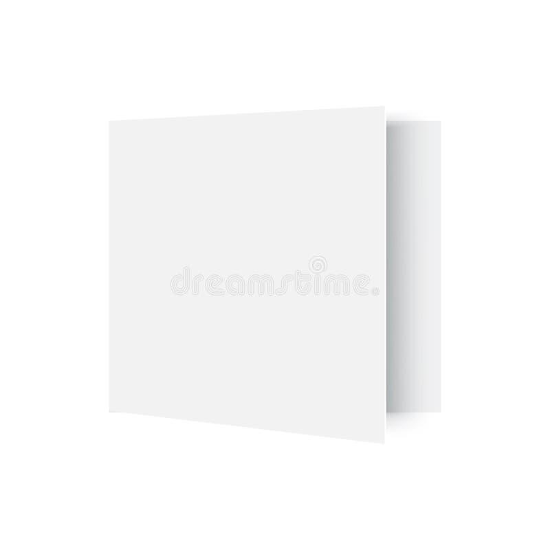 Ανοιγμένο πρότυπο περιοδικό στο λευκό διάνυσμα απεικόνιση αποθεμάτων