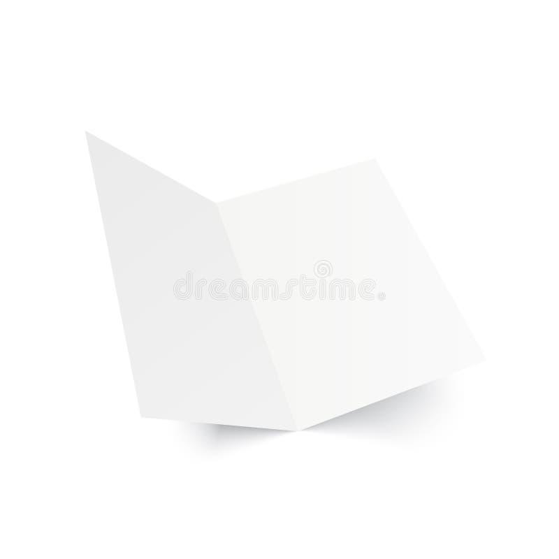 Ανοιγμένο πρότυπο περιοδικό στο λευκό διάνυσμα διανυσματική απεικόνιση