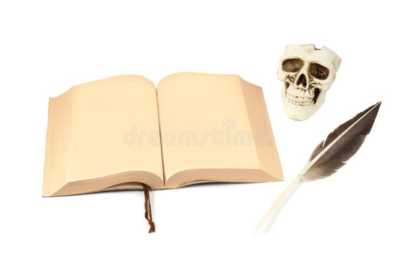 Ανοιγμένο σκοτεινό βιβλίο στοκ φωτογραφία με δικαίωμα ελεύθερης χρήσης