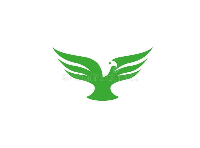 Ανοικτά φτερά αετών πουλιών που πετούν για το λογότυπο ελεύθερη απεικόνιση δικαιώματος