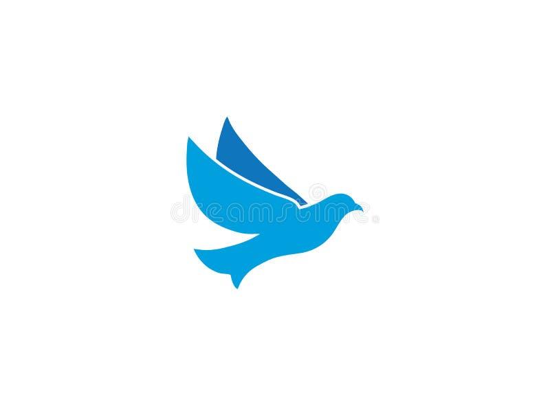 Ανοικτά φτερά αετών πουλιών που πετούν για το σχέδιο λογότυπων απεικόνιση αποθεμάτων