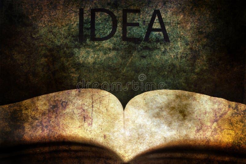 Ανοικτή έννοια κειμένων βιβλίων και ιδέας grunge στοκ εικόνες