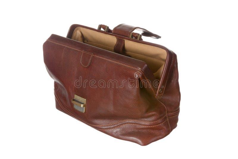 Ανοικτή εκλεκτής ποιότητας τσάντα γιατρών στοκ φωτογραφία