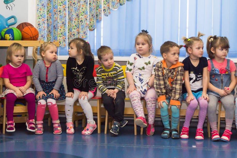 Ανοικτή ημέρα στον παιδικό σταθμό της περιοχής Kaluga της Ρωσίας στοκ φωτογραφίες με δικαίωμα ελεύθερης χρήσης