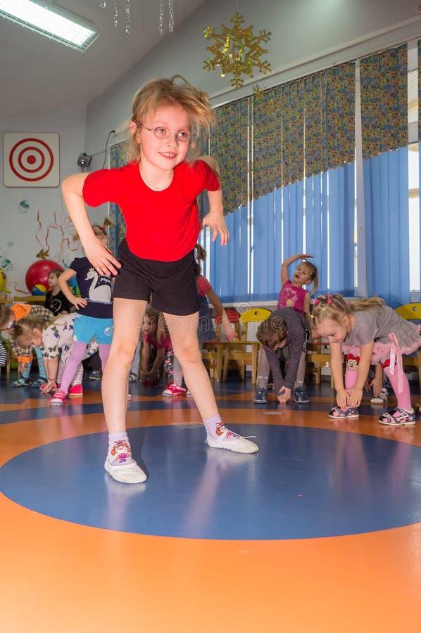 Ανοικτή ημέρα στον παιδικό σταθμό της περιοχής Kaluga της Ρωσίας στοκ εικόνες με δικαίωμα ελεύθερης χρήσης