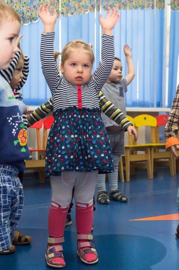 Ανοικτή ημέρα στον παιδικό σταθμό της περιοχής Kaluga της Ρωσίας στοκ εικόνα με δικαίωμα ελεύθερης χρήσης
