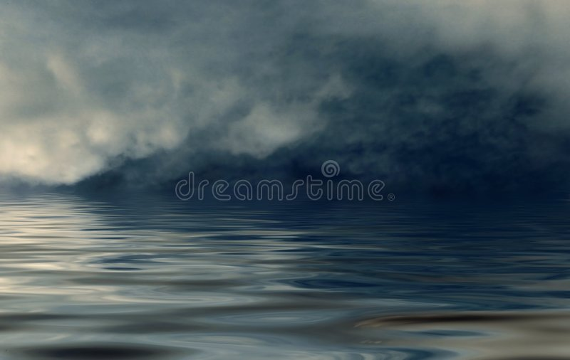 ανοικτή θάλασσα ομίχλης στοκ φωτογραφία