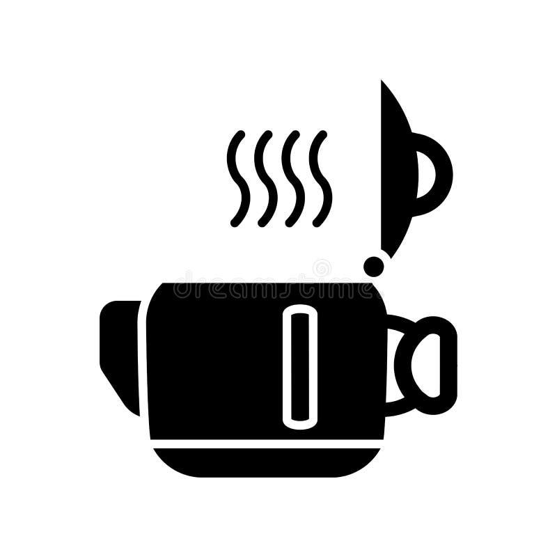 Ανοικτή κατσαρόλα για το εικονίδιο τσαγιού ή καφέ επίσης corel σύρετε το διάνυσμα απεικόνισης ελεύθερη απεικόνιση δικαιώματος