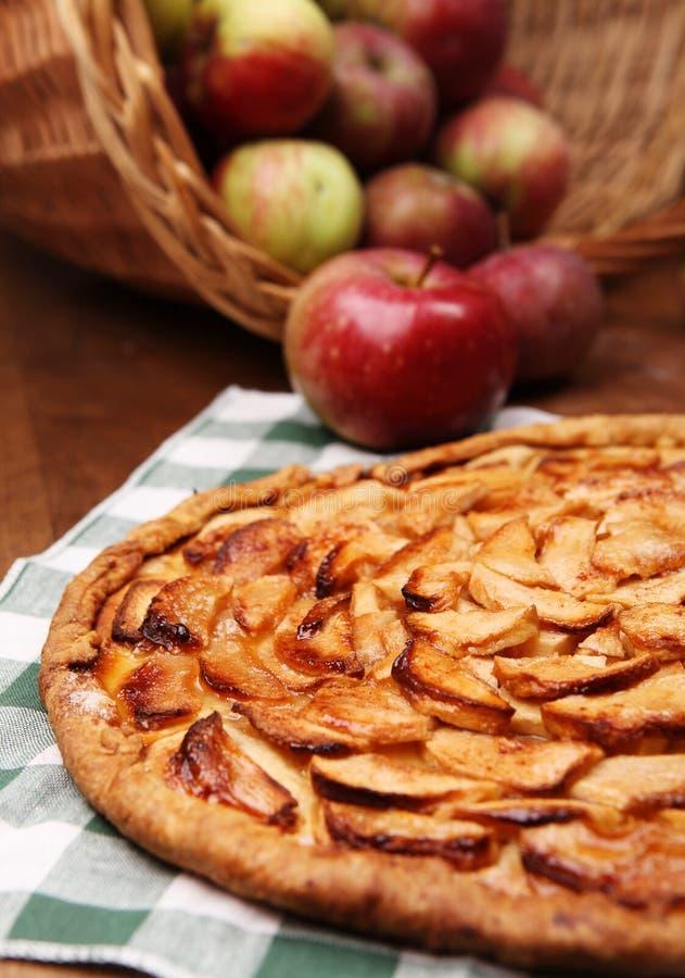 Ανοικτή πίτα μήλων στοκ εικόνες