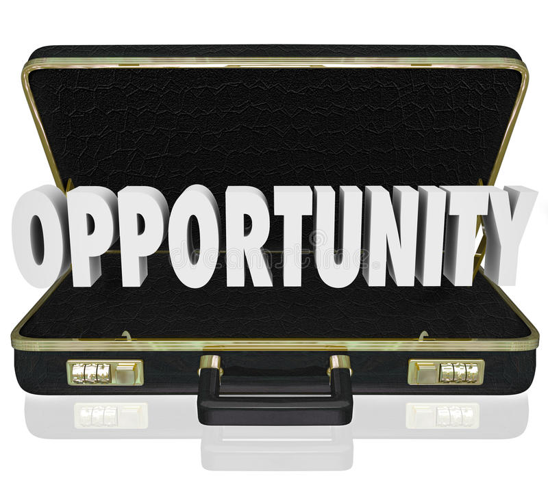 Ανοικτή πρόταση πωλήσεων προσφοράς εργασίας χαρτοφυλάκων του Word ευκαιρίας ελεύθερη απεικόνιση δικαιώματος