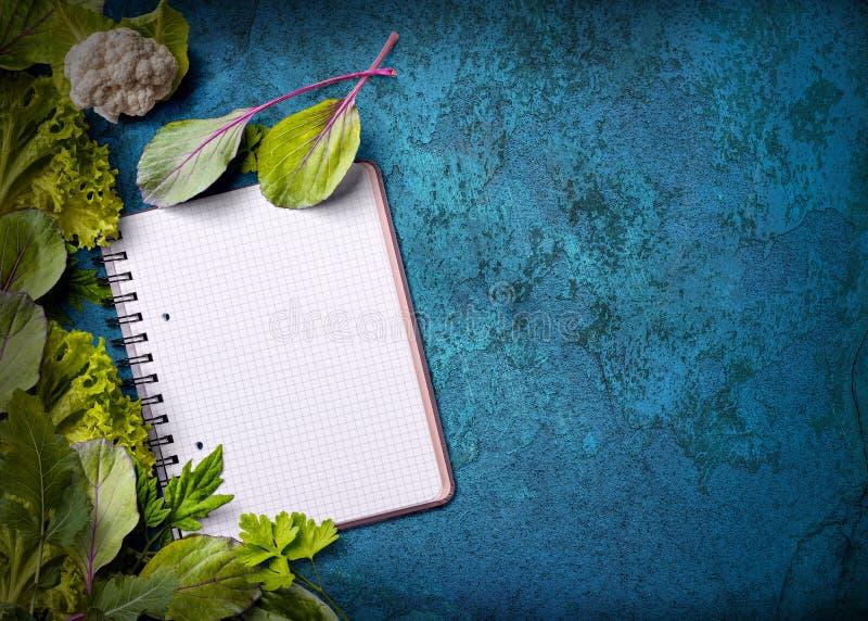 ανοικτή συνταγή βιβλίων στοκ φωτογραφία