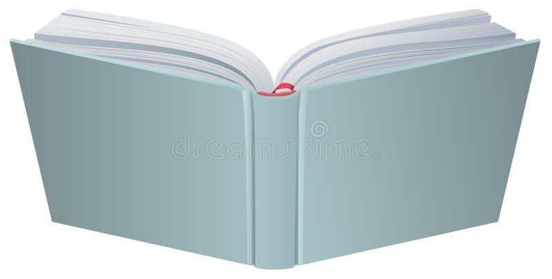 Ανοικτή τρισδιάστατη ρεαλιστική διανυσματική απεικόνιση βιβλίων hardcover διανυσματική απεικόνιση