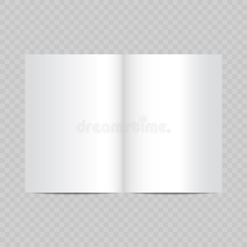ανοικτός διανυσματικός άσπρος ρεαλιστικός σελίδων περιοδικών κενός ελεύθερη απεικόνιση δικαιώματος