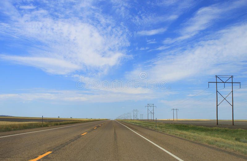 ανοικτός δρόμος ευρέως στοκ εικόνα