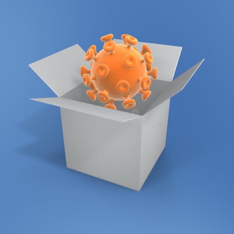 ανοικτός ιός κιβωτίων απεικόνιση αποθεμάτων