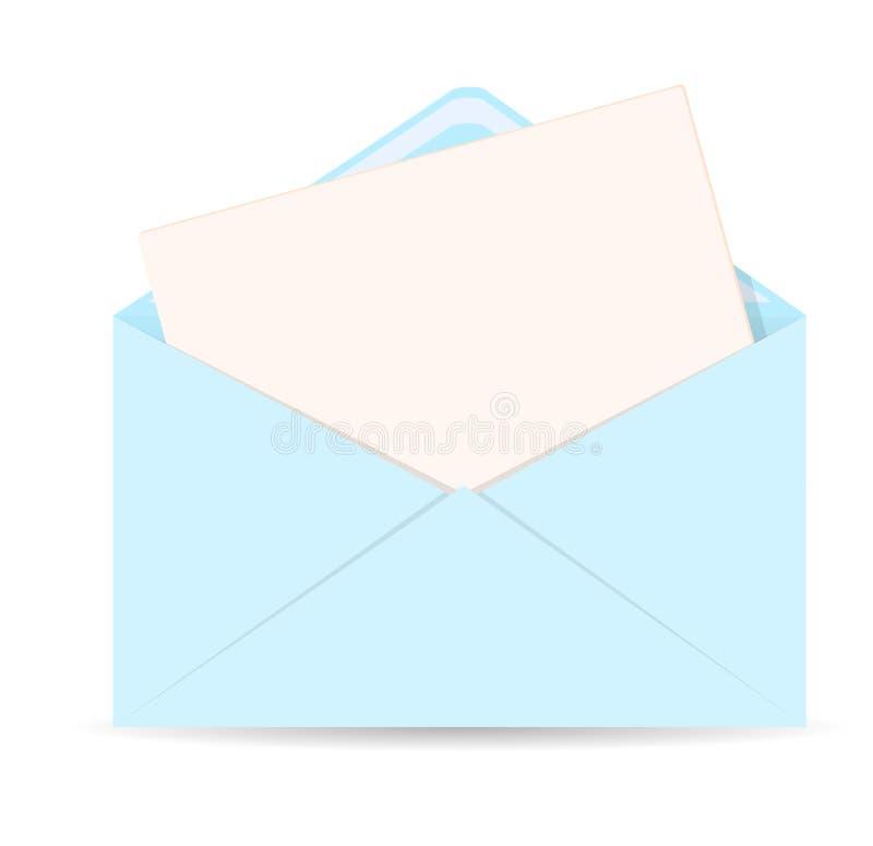 Ανοικτός φάκελος με το διανυσματικό εικονίδιο επιστολών - EPS 10 ελεύθερη απεικόνιση δικαιώματος