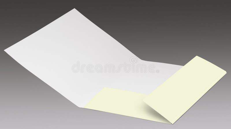 Ανοικτός φάκελλος παρουσίασης στοκ φωτογραφία με δικαίωμα ελεύθερης χρήσης
