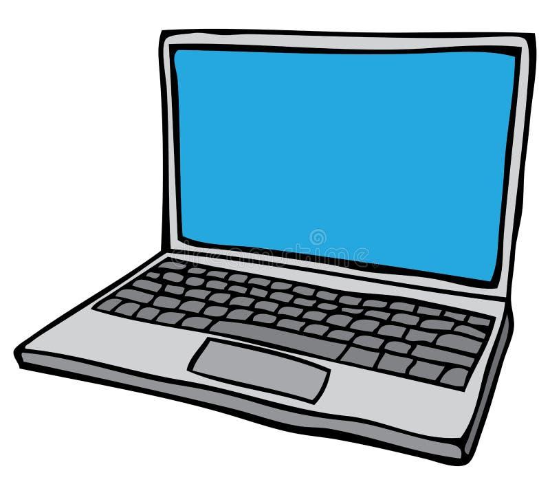 Ανοικτός φορητός προσωπικός υπολογιστής διανυσματική απεικόνιση
