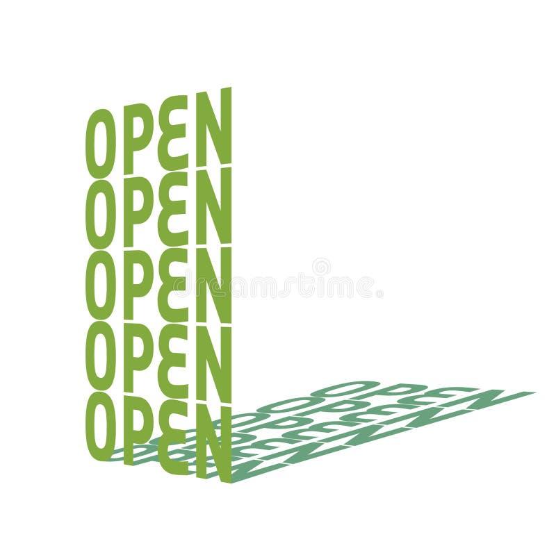 ανοικτός διανυσματική απεικόνιση