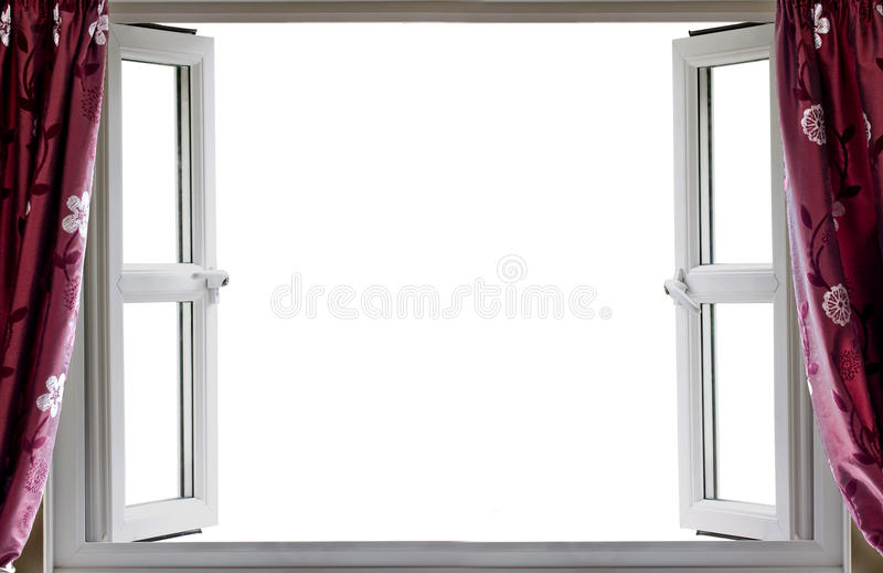 Ανοικτό άσπρο υπόβαθρο παραθύρων στοκ εικόνα