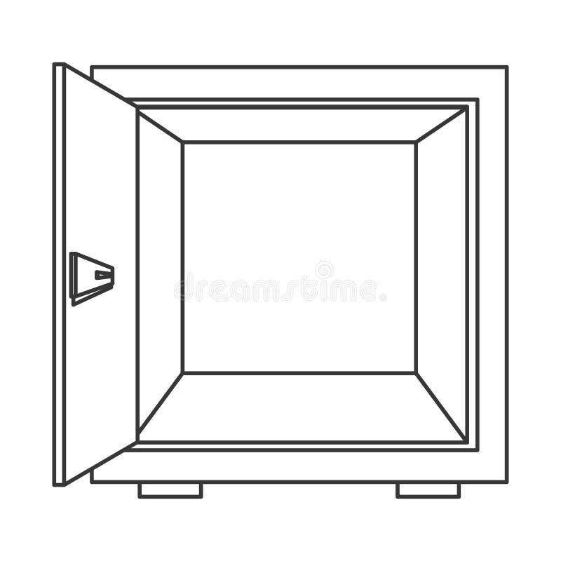 ανοικτό ασφαλές εικονίδιο κιβωτίων διανυσματική απεικόνιση