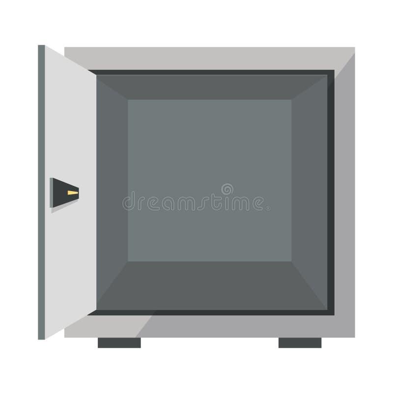 ανοικτό ασφαλές εικονίδιο κιβωτίων απεικόνιση αποθεμάτων