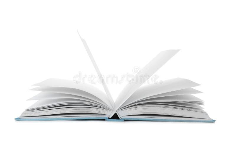 Ανοικτό βιβλίο με τη σκληρή κάλυψη στοκ εικόνες
