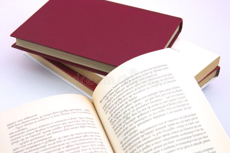Ανοικτό βιβλίο σε ένα επιτραπέζιο σύνολο των βιβλίων στοκ φωτογραφία με δικαίωμα ελεύθερης χρήσης