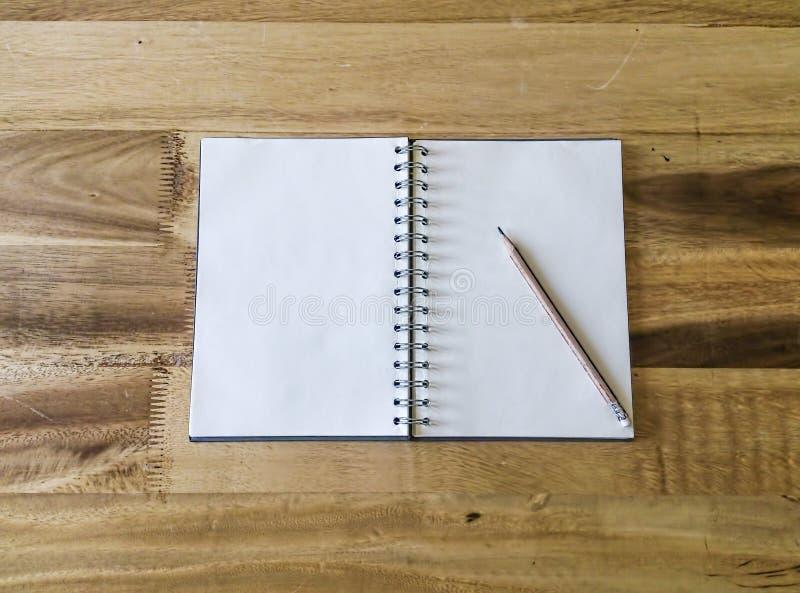Ανοικτό βιβλίο τοπ άποψης στοκ εικόνες